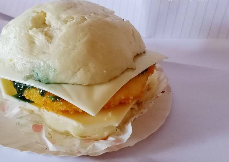Resep Burger Pao tape with cheese and blueberry jam Top