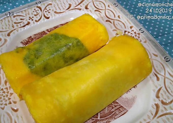 Recipe of Super Quick Homemade Tamagoyaki with Mulberry Leaves