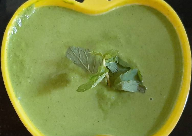 15 Minute Steps to Prepare Special Spinach, Spring Onion Chutney