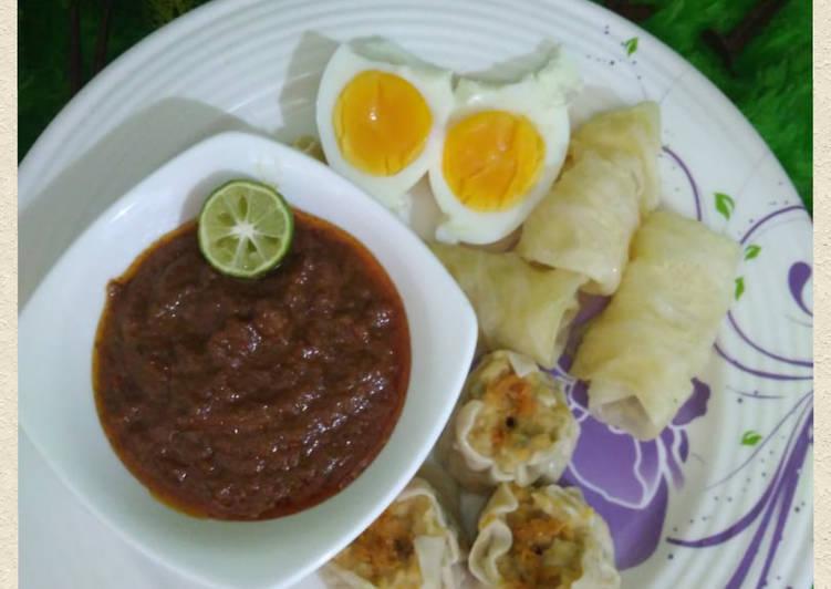 resep cara buat Sambel Kacang Siomay/ Batagor recook mba @Azizah