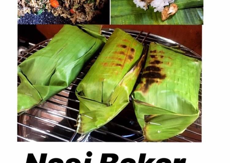 Nasi Bakar Cakalang Kemangi (Pedas)