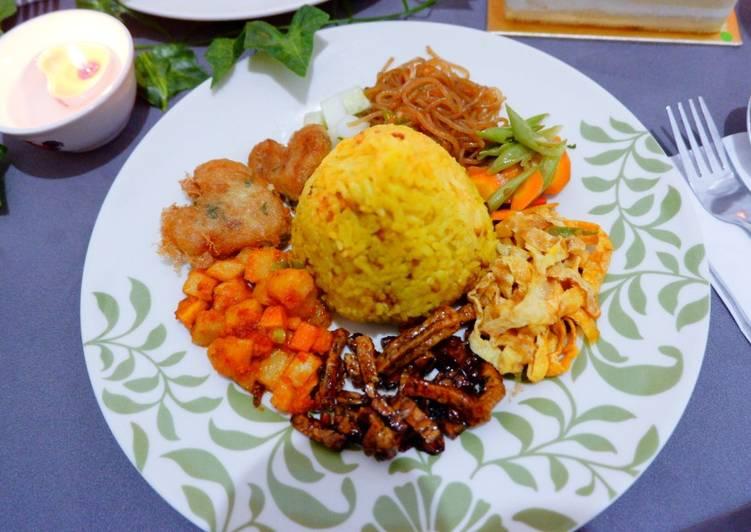 Nasi kuning mudah pakai magic com - cookandrecipe.com