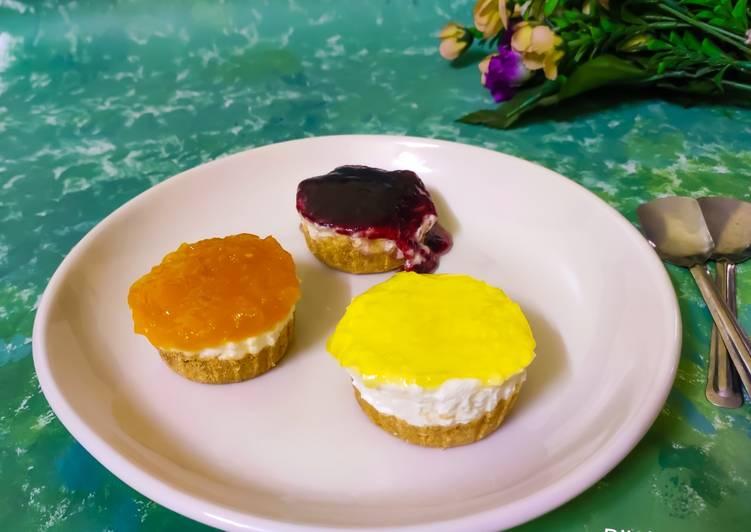 Cheesecake-pinepple, mango, blueberry