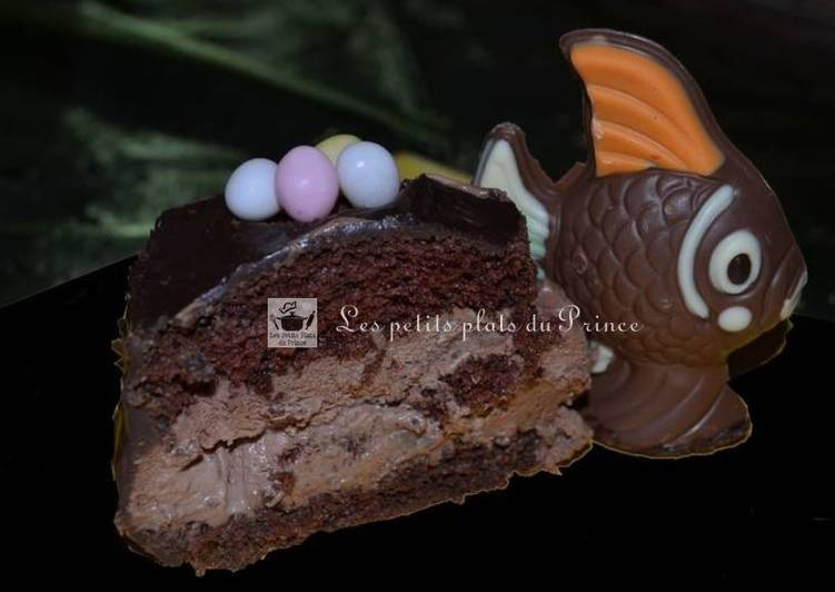 Gâteau poire chocolat pour Pâques