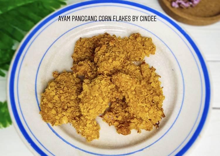 Resep Ayam Panggang Corn Flakes Yang Simple Sedap