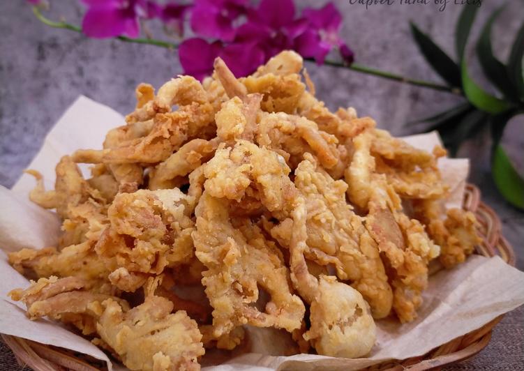 Recipe: Appetizing Jamur Crispy