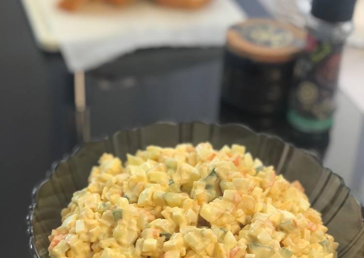 Salade de bâtonnets de surimi