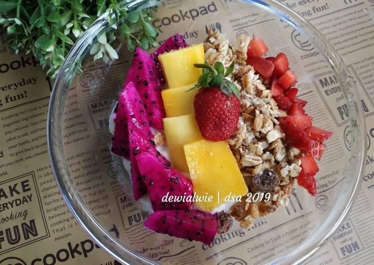 Resep Sarapan sehat 24 (soursop smoothies bowl) Bikin Ngiler