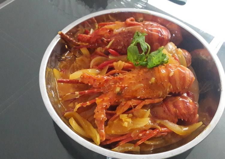 Cara Memasak Lobster saos padang Istimewa