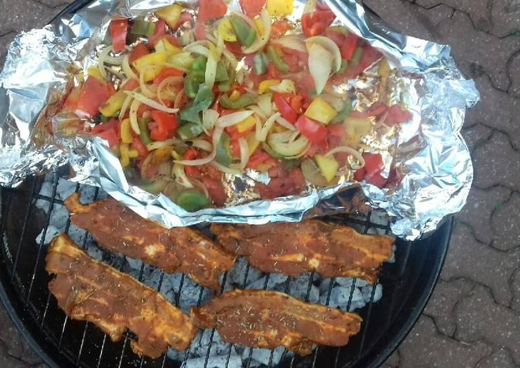 Petit barbecue et ses legumes