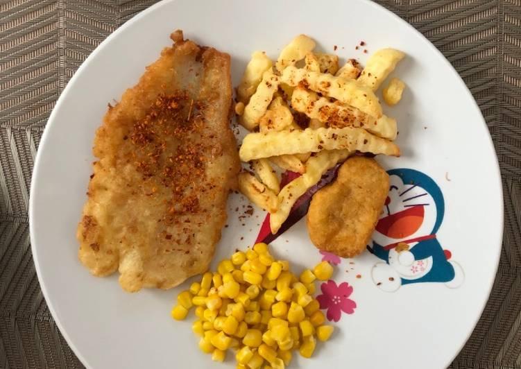 FISH AND CHIPS BAGI YANG GAK SUKA SAUS/MAYONNAISE