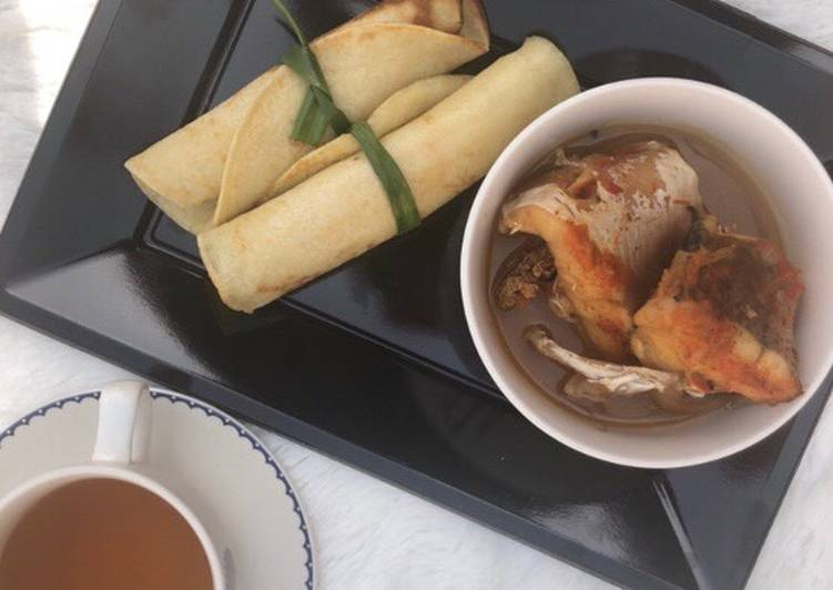Steps to Prepare Quick Pancake roll with fish pepper soup