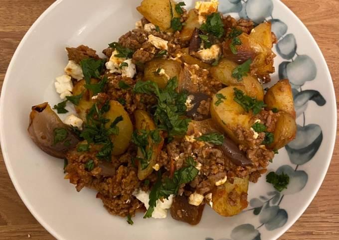 Harissa Beef and crispy potatoes