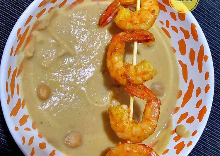 Ricetta Vellutata ceci mazzancolle e curry 🍤