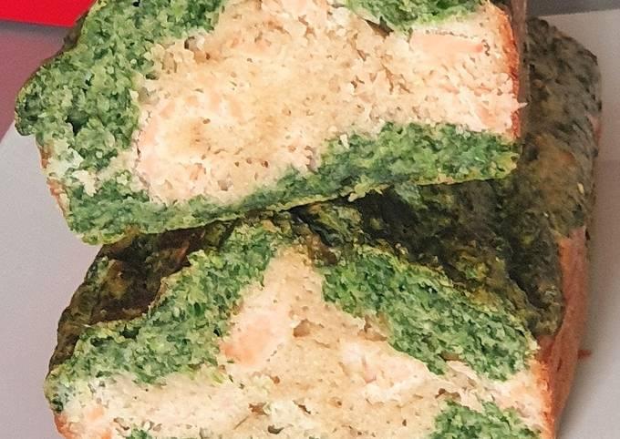 Cake epinard / saumon fumé