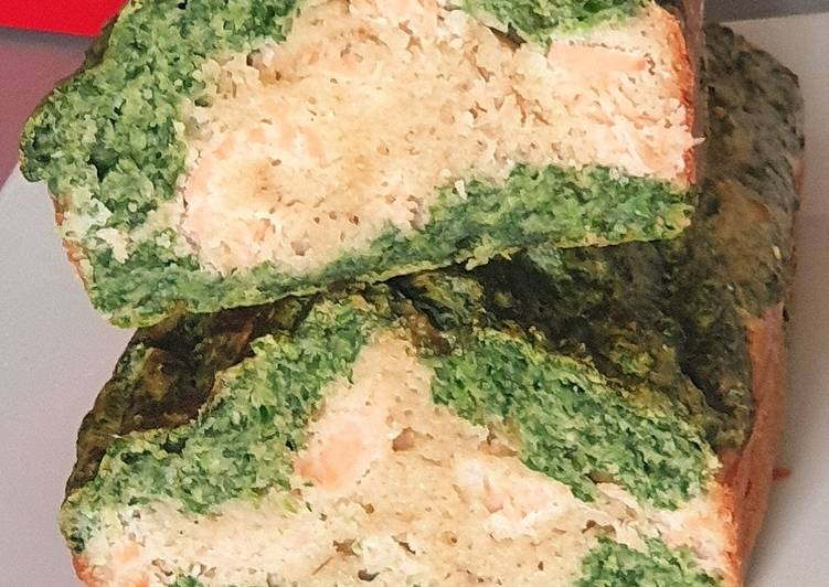 Recette Parfait Cake epinard / saumon fumé