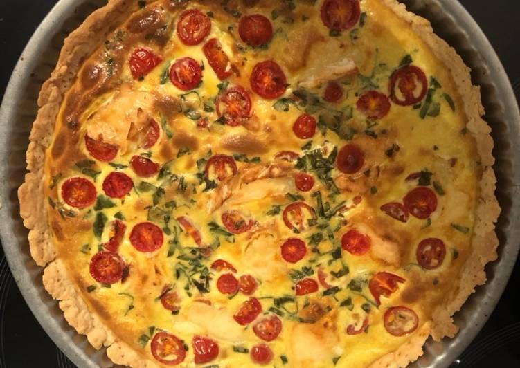 Recipes  Quiche tomate brebis