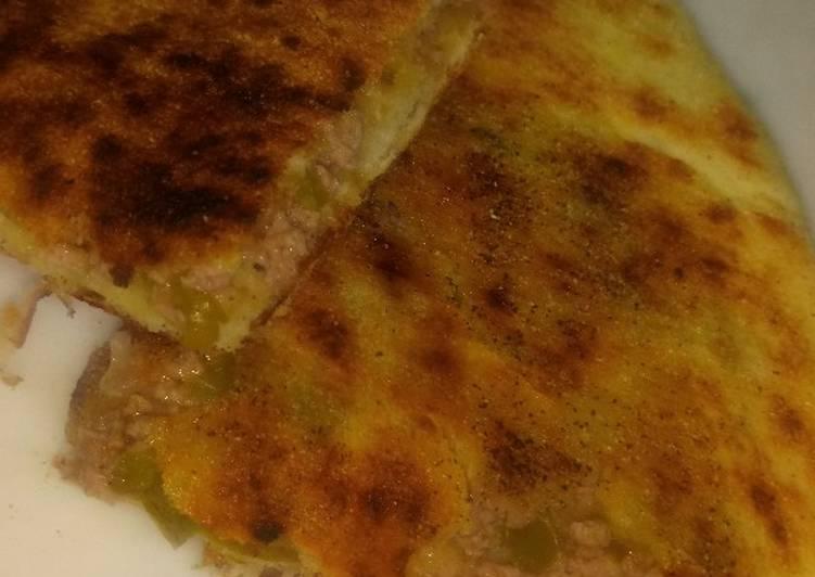 Recette Des Galette 🥙 farcie à la viande 🍖 hachée et aux légumes..