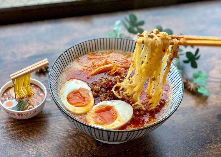 Recipe: Appetizing Japanese Chili Sesame Ramen (Tan Tan Ramen)