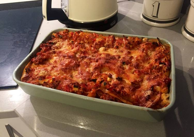 Recipe of Perfect Vegetarian Lasagna with Cottage Cheese