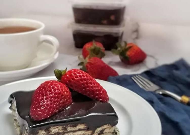 Kek Batik Chocolate Ganache
