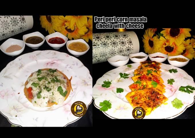Peri-Peri Corn Masala Gram Flour Pan Cake With & Without cheese