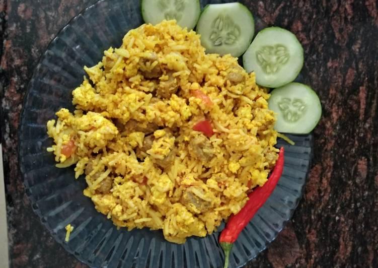 Paneer and Soya Chunks Rice
