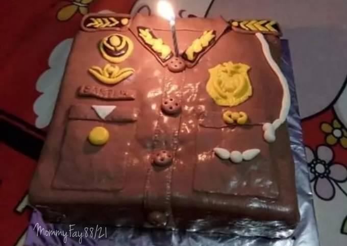 Rainbow Cake Simpel Karakter Baju