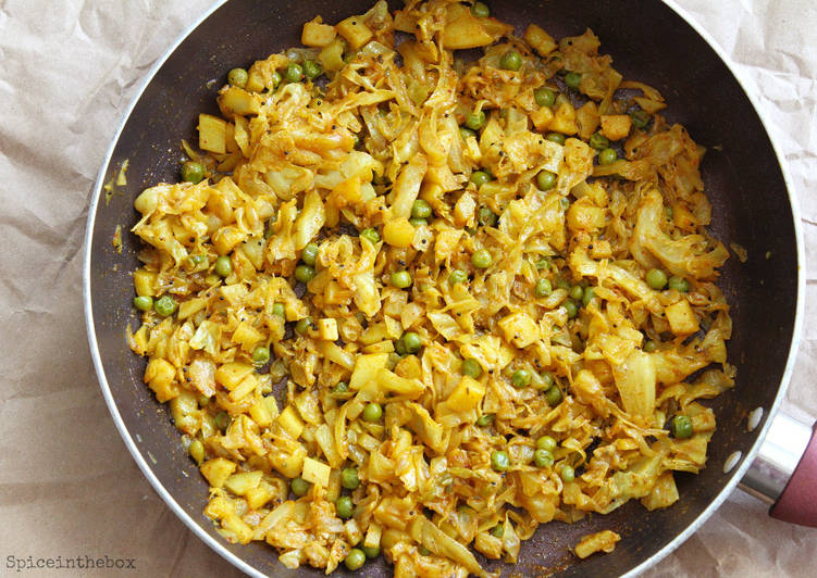 Cabbage with Fennel Seeds Curry Finding Nutritious Fast Food