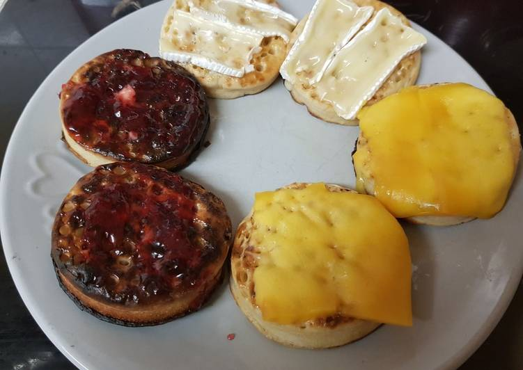 Recipe of Speedy My Breakfast Crumpets to suit the family