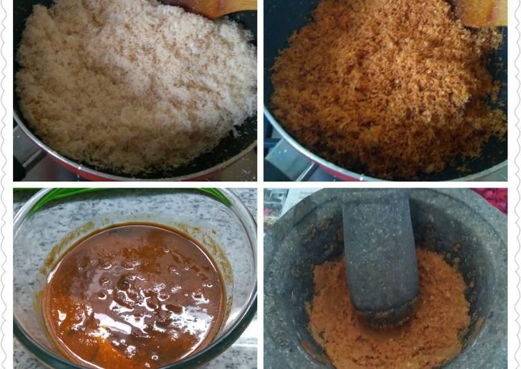 Resep Kelapa Sangrai Tumbuk untuk Rendang Padang atau Malbi