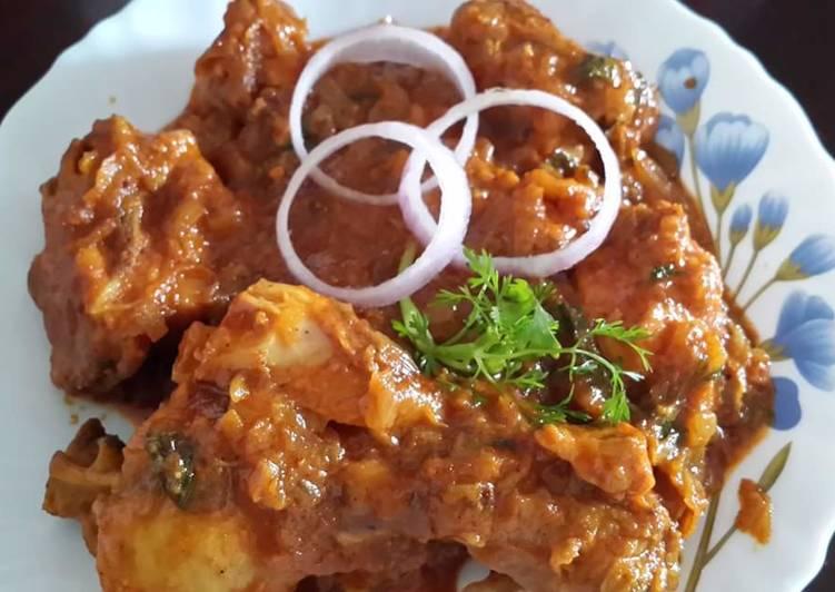 Bengali style Dry Chicken Curry/ Kosha Murgir Mangsho