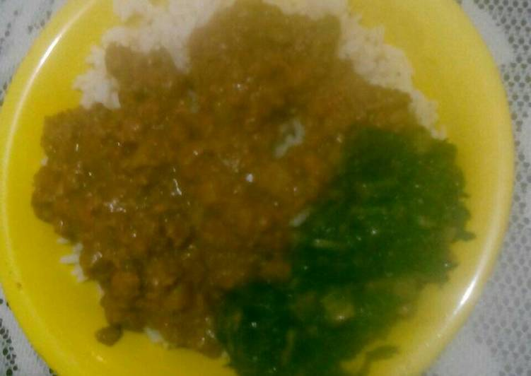 Mince and Rice