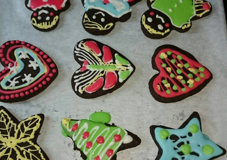 Christmas sugar cookies unt natal anak warna warni