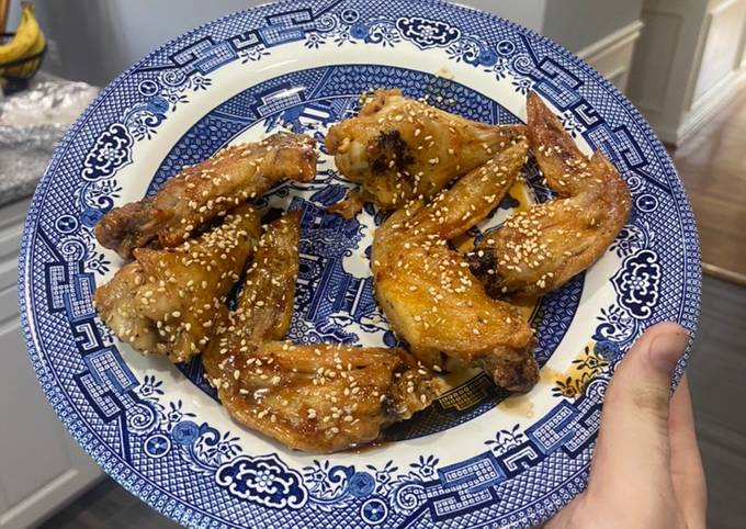 Air Fried Chicken Wings (Honey Sesame and Korean Hot and Honey)