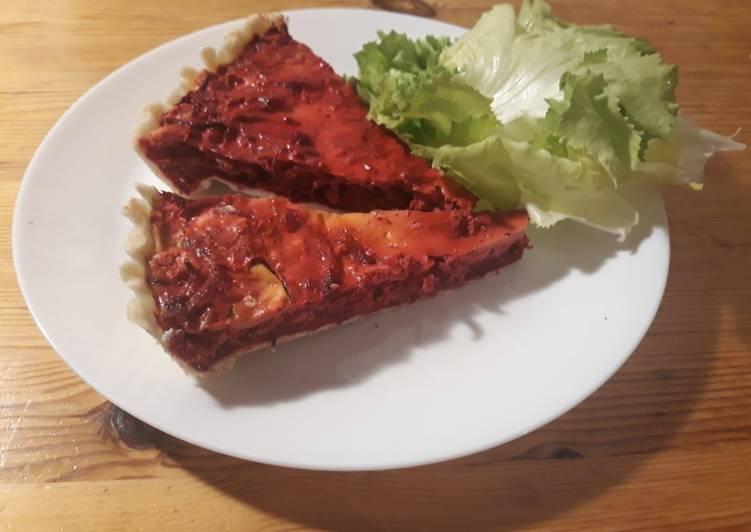 Rote Bete-Tarte mit Feta