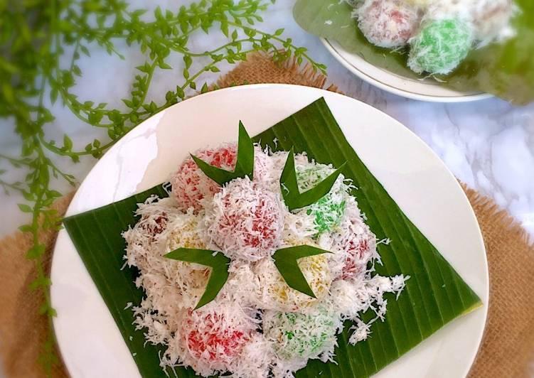 Kue Klepon Pelangi - cookandrecipe.com