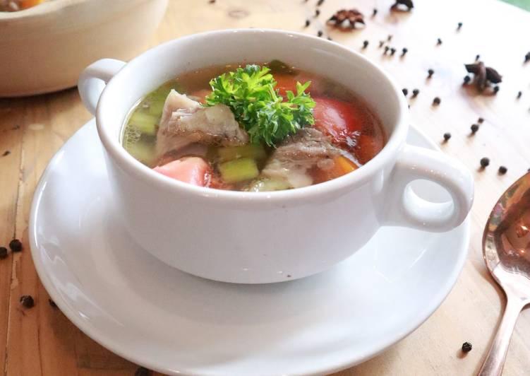 Soup Daging Rempah | pakai Beef Broth