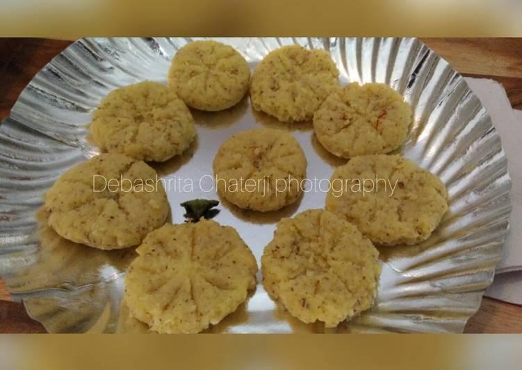 30 Minute Dinner Easy Spring Narkel chhap Sandesh Coconut Sandesh