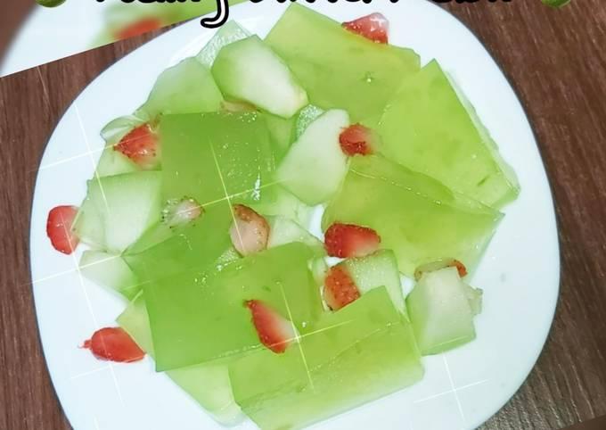 Puding Nutrijell ektra Melon 🍈(cemilan segar)