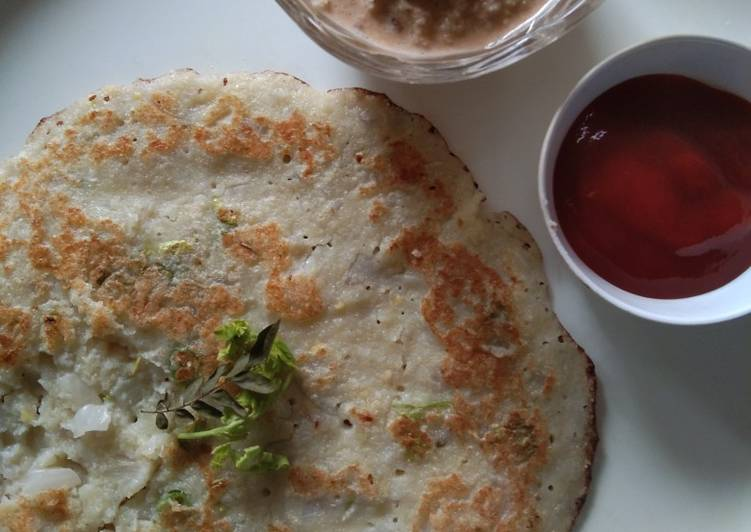 Recipe of Any-night-of-the-week Moong dal and poha dosa
