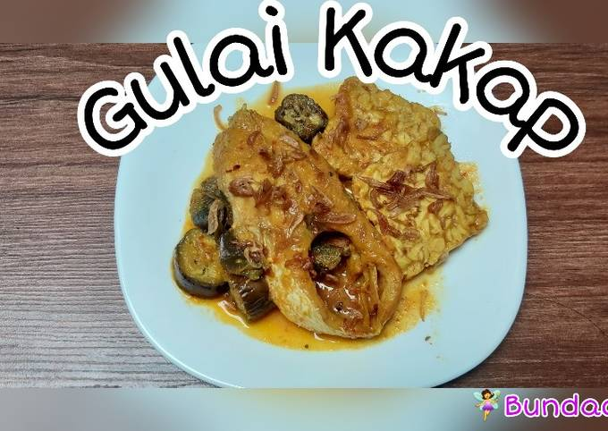 Gulai kakap terong simple