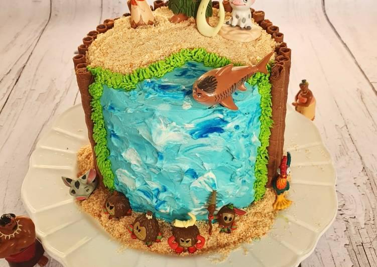 Layer cake vaiana / moana à la clémentine