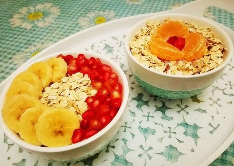 Yaourt flocons d'avoine fruits frais 🍴