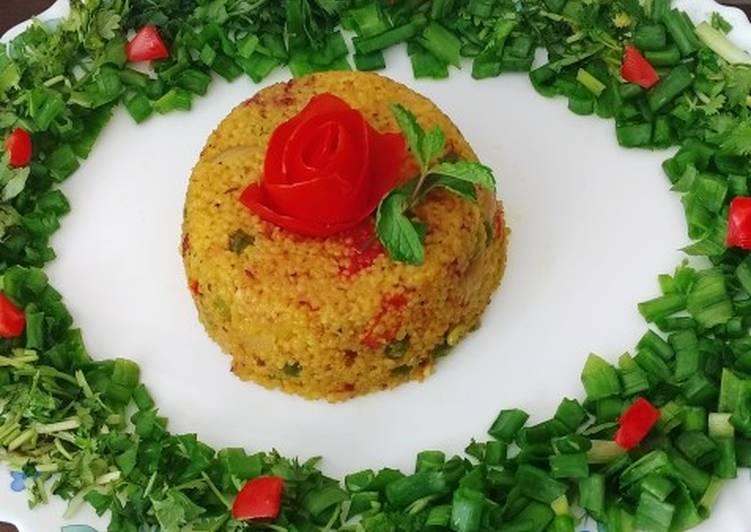 15 Minute Simple Way to Make Homemade Vegetable Daliya