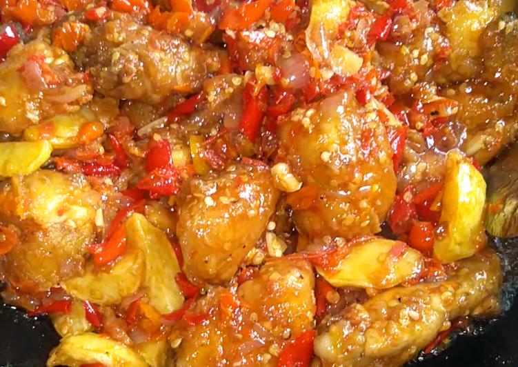 Ayam tepung sambal mercon