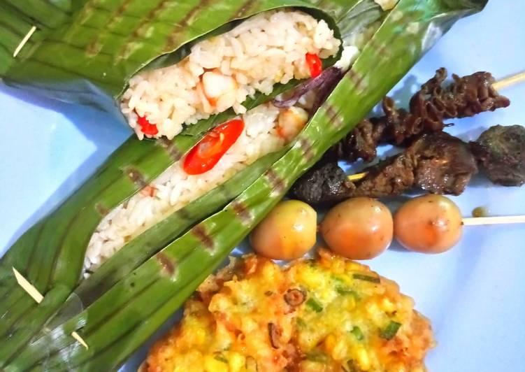 resep nasi bakar seafood ala ibu oleh mimam  cookpad Resepi Nasi Bakar Isi Ayam Suwir Enak dan Mudah