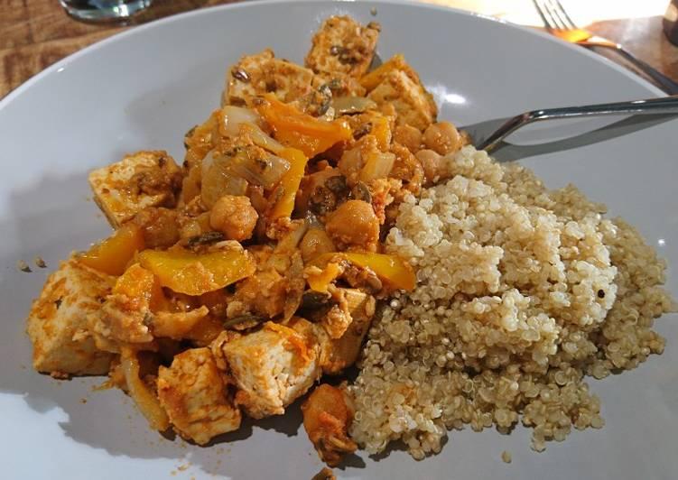 Tofu and Chickpea Thai Satay Curry 🥘🤤