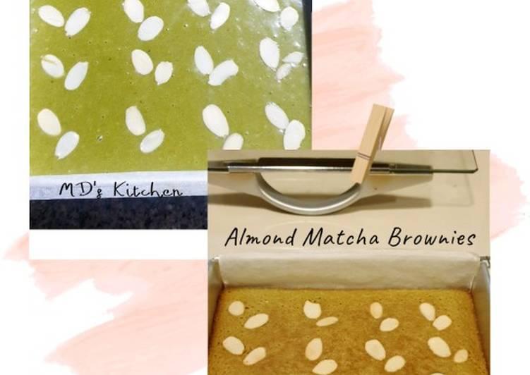 Resep Almond Matcha Brownies yang Enak Banget
