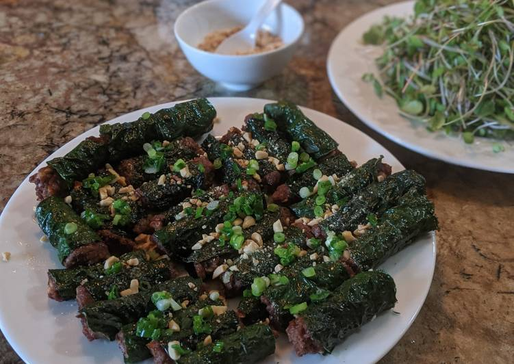 Step-by-Step Guide to Make Homemade Bò lá lốt (Meat wrapped in betel leaf)